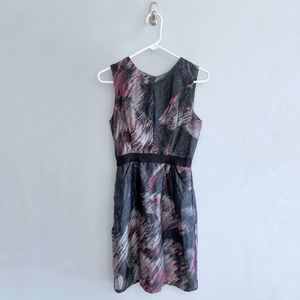 Milly Silk Watercolor Dress with Pockets
